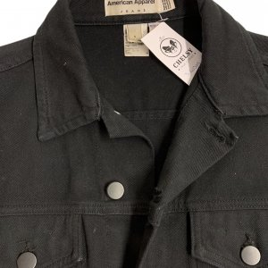 ג׳קט ג׳ינס שחור לגבר - AMERICAN APPAREL 3