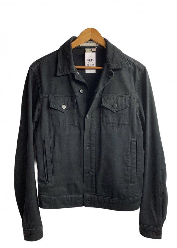 ג׳קט ג׳ינס שחור לגבר - AMERICAN APPAREL 1