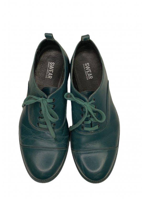 נעלי אוקספורד בצבע ירוק בקבוק - SWEAR 1