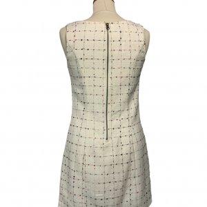 שמלת  שמנת תיפורים צבעוניים - OODJI 2