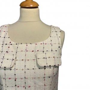 שמלת  שמנת תיפורים צבעוניים - OODJI 4