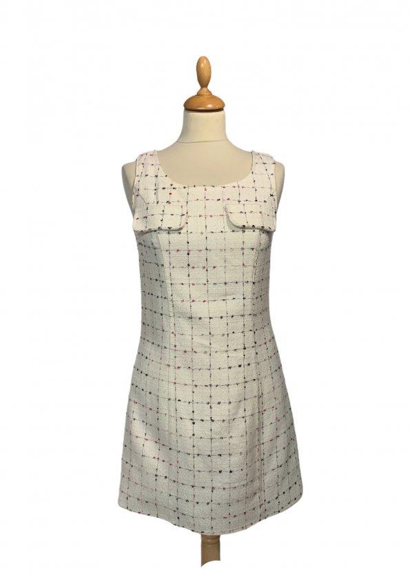 שמלת  שמנת תיפורים צבעוניים - OODJI 1
