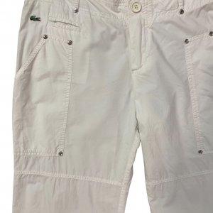 """מכנסיים דגמ""""ח לבן, שני כיסים - LACOSTE 3"""