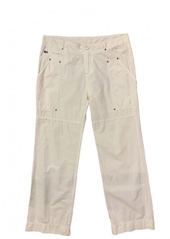 """מכנסיים דגמ""""ח לבן, שני כיסים - LACOSTE 1"""