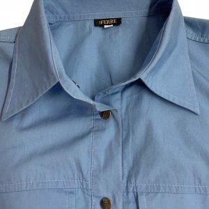 חולצה מכופתרת תכלת כהה - GIANFRANCO FERRE 4
