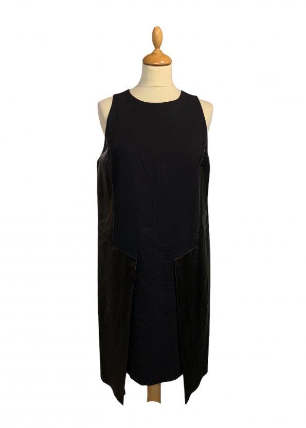 שמלה שחורה עור ובד שחור - SPORTMAX 1