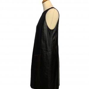 שמלה שחורה עור ובד שחור - SPORTMAX 3