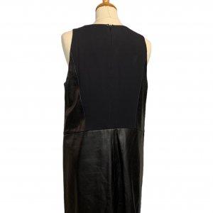 שמלה שחורה עור ובד שחור - SPORTMAX 2