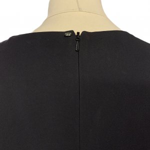 שמלה שחורה עור ובד שחור - SPORTMAX 4