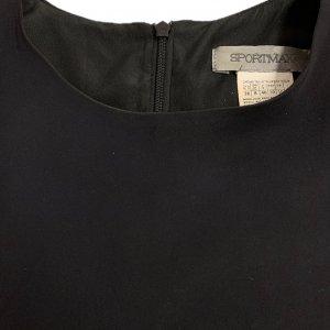 שמלה שחורה עור ובד שחור - SPORTMAX 5