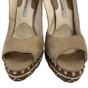 נעלי עקב עם פלטפורמה בצבע חום עם חבלים לבנים - BRIAN ATWOOD 7