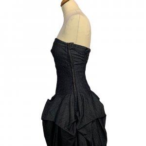 שמלה סטרפלס ג׳ינס שכבות - WARE DENIM 3