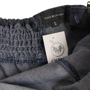 שמלה סטרפלס ג׳ינס שכבות - WARE DENIM 4