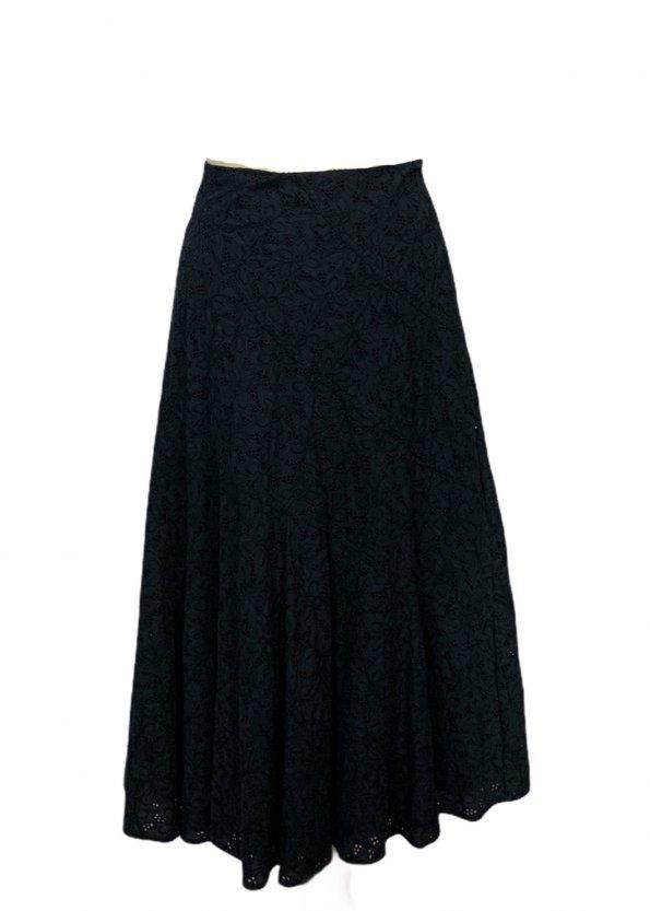 חצאית תחרה כחול כהה - LAURA ASHLEY 1