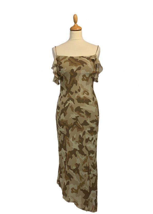 שמלת שיפון מקסי צבאית 1