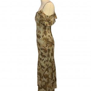 שמלת שיפון מקסי צבאית 3