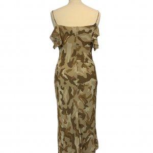שמלת שיפון מקסי צבאית 2