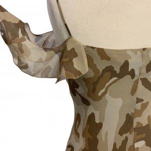 שמלת שיפון מקסי צבאית 5