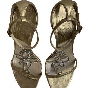 נעלי עקב זהובות - CHRISTIAN DIOR 5