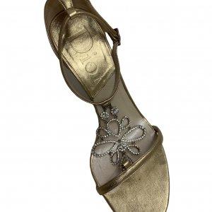 נעלי עקב זהובות - CHRISTIAN DIOR 8