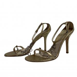 נעלי עקב זהובות - CHRISTIAN DIOR 2