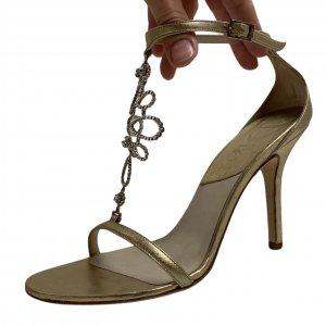 נעלי עקב זהובות - CHRISTIAN DIOR 3