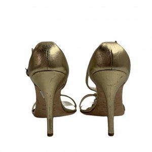 נעלי עקב זהובות - CHRISTIAN DIOR 6