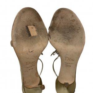 נעלי עקב זהובות - CHRISTIAN DIOR 7