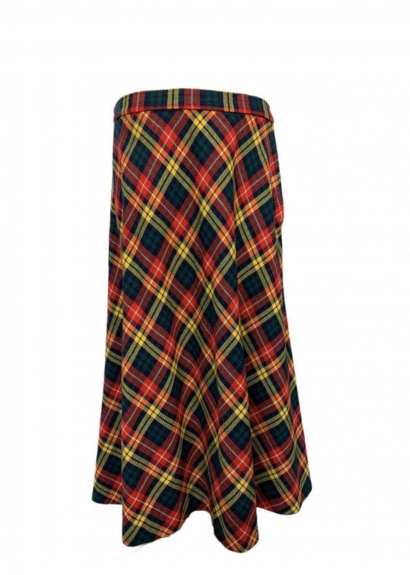 חצאית מקסי משבצות סקוטי - וינטג׳ 1