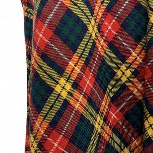 חצאית מקסי משבצות סקוטי - וינטג׳ 4