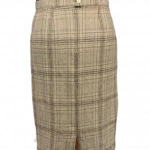 חצאית עיפרון משבצות שמנת - וינטג׳ 2
