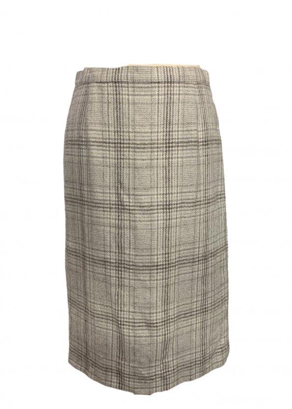 חצאית עיפרון משבצות שמנת - וינטג׳ 1