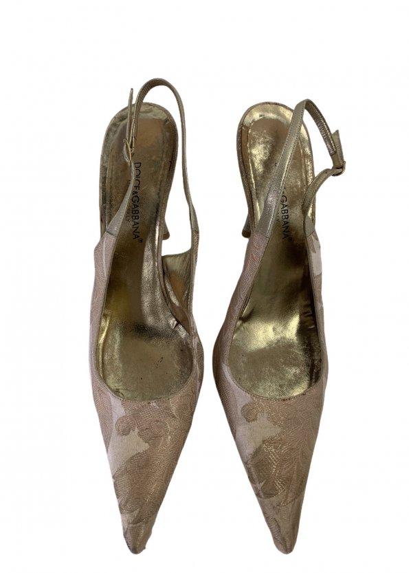 נעלי עקב ורוד פודרה - Dolce & Gabbana 1
