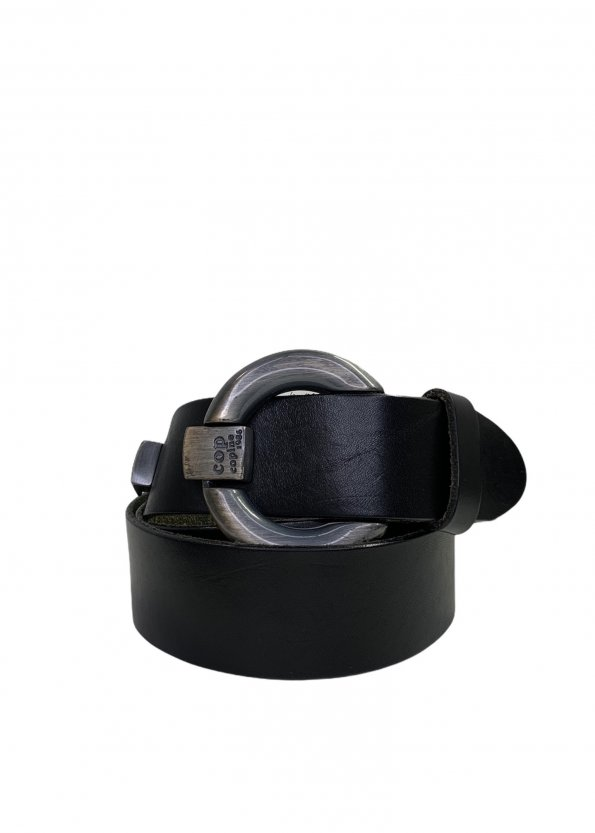 חגורת עור שחור - COP.COPINE 1