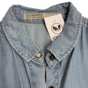 חולצת ג׳ינס ללא שרווך - ALL SAINTS 4