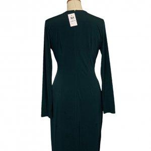 שמלת מעטפת בצבע ירוק בקבוק - CALVIN KLEIN 2