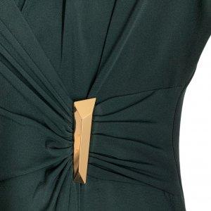 שמלת מעטפת בצבע ירוק בקבוק - CALVIN KLEIN 4