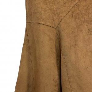 חצאית אסימטר, עור זמש חום - SISLEY 7