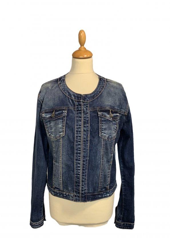 ז׳קט ג׳ינס משופשף - ללא מותג 1