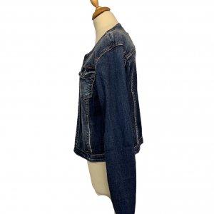 ז׳קט ג׳ינס משופשף - ללא מותג 5