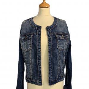 ז׳קט ג׳ינס משופשף - ללא מותג 3