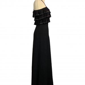 שמלת מקסי שחורה, ווtלנים עם יהלומים - TED LAPIDUS 2