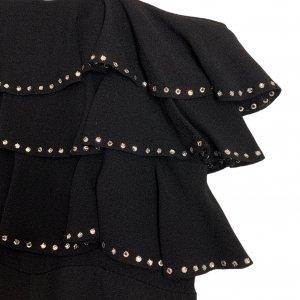 שמלת מקסי שחורה, ווtלנים עם יהלומים - TED LAPIDUS 5