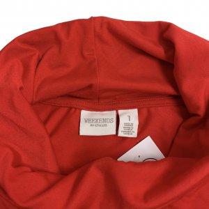 חולצה אדומה עם צאוורון גולף - WEEKENDS by Chico's 5