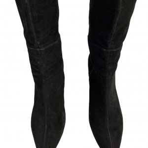 מגפיים על עקב, עור זאמש שחור - TAHARI 4
