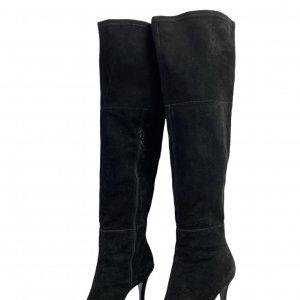מגפיים על עקב, עור זאמש שחור - TAHARI 2
