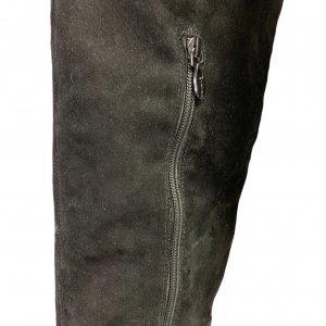 מגפיים על עקב, עור זאמש שחור - TAHARI 6