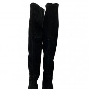מגפיים על עקב, עור זאמש שחור - TAHARI 3