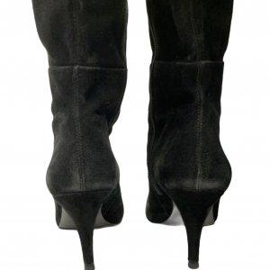 מגפיים על עקב, עור זאמש שחור - TAHARI 5