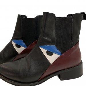מגפונים Chelsea שחורים צבע בורדו ועיניים - Fendi 7